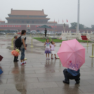 Lots of Chinese tourists pose here for photos