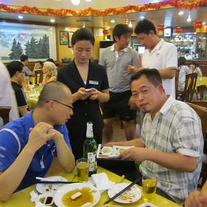 Dinner in Haouhai courtesy of Jonghe