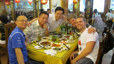 Dinner in Haouhai courtesy of Jonghe. We ate and ate and ate
