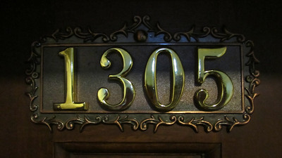 Apartment number on Jim's door in Beijing