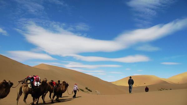 【october】Badain Jaran Desert trekking