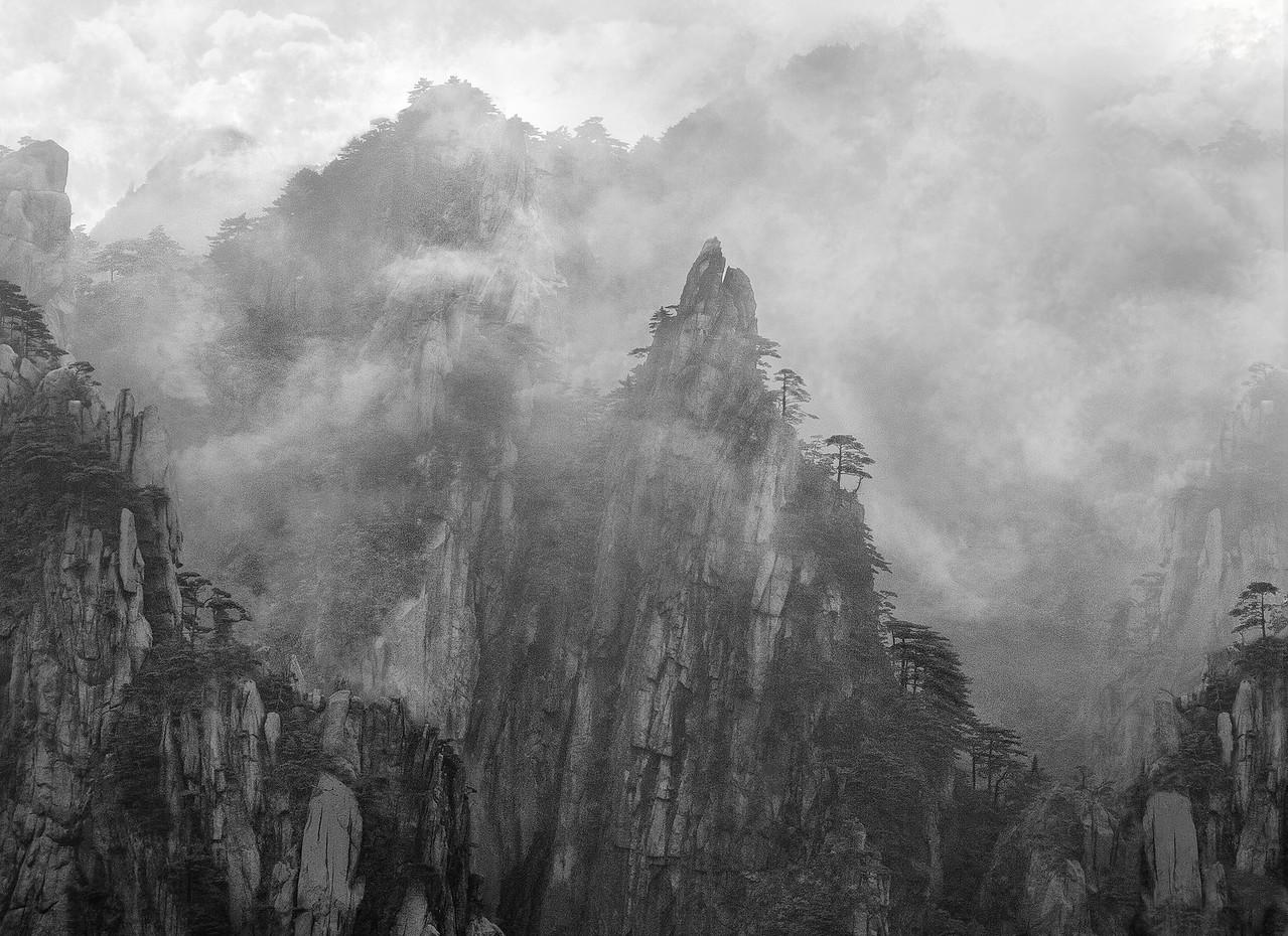 """Fog in Huangshan #2. 20""""x15"""""""
