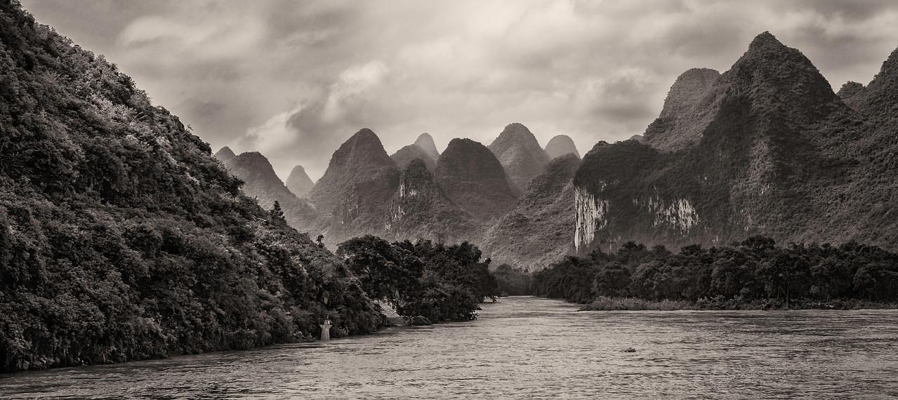 """Lijiang River in Guilin. 33""""x15"""""""