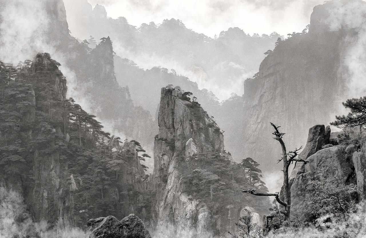 """Huangshan. The Rain Has Stopped. 25""""x16""""."""