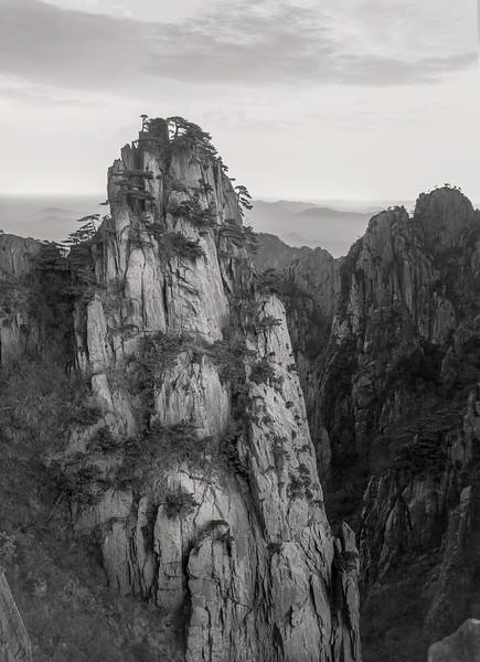 "Solitary Rock in Huangshan. 16""x22"""