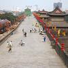 Atop Xi'an's city wall.