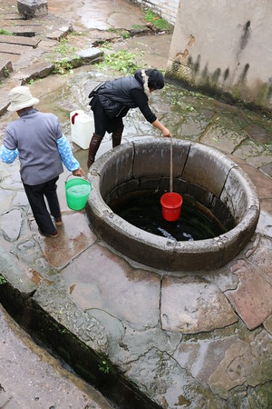 Daily Water Trip to the Well, Yunnan Village