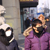 Facemasks are the name of the game when the weather is cold in Harbin.