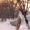 The sun sets over Sun island Park.
