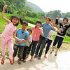 Local kids in Beidou Village