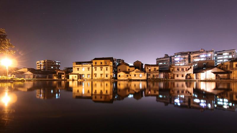 Old Meizhou at night