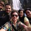 Travel crew at the Longgui Waterfalls