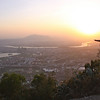 Sunset over Quanzhou, seen from atop Qingyuan Mountain