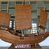 A mini replica of an ancient ship in the Maritime Museum.