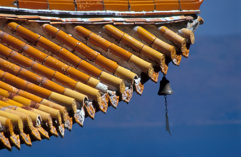 Temple Roof With Bell, China