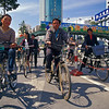 Cyclists in Streets of Kunming