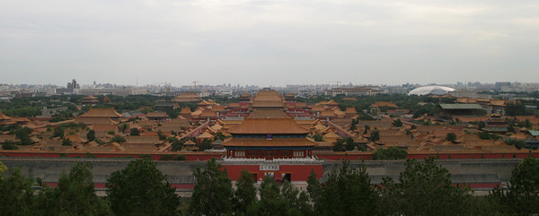 The Forbidden City from Jingshan.