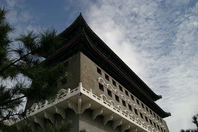 The Qianmen archery tower, from the front.
