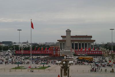 Tiananmen Square, seen from Tiananmen itself.