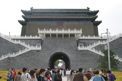 Rear view of the Qianmen archery tower