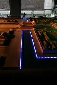 A model of the Forbidden City.  This is the moat and Wumen, viewed from the east.