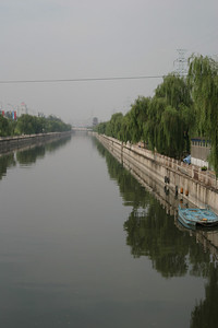 Looking west down the south, outer moat of old Beijing, from Jingtai Rd.