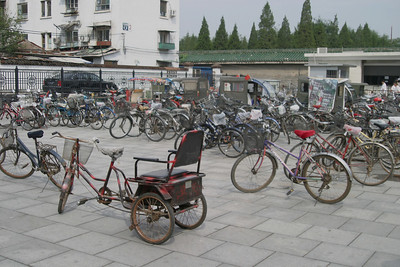 Bicycles parked in front of the south gate of the Temple of Heaven