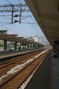 At the Yilan train station