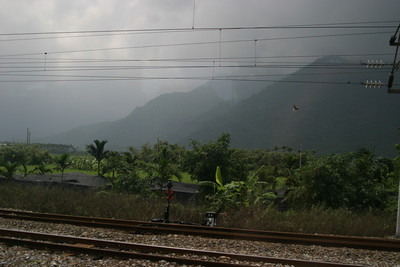 In Transit by Train from Yilan to Hualien