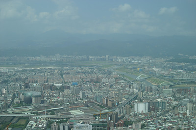 View from the Taipei 101 observation deck.