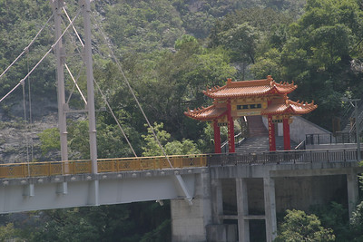 Entrance to the Buddhist shrine at Tiansiang