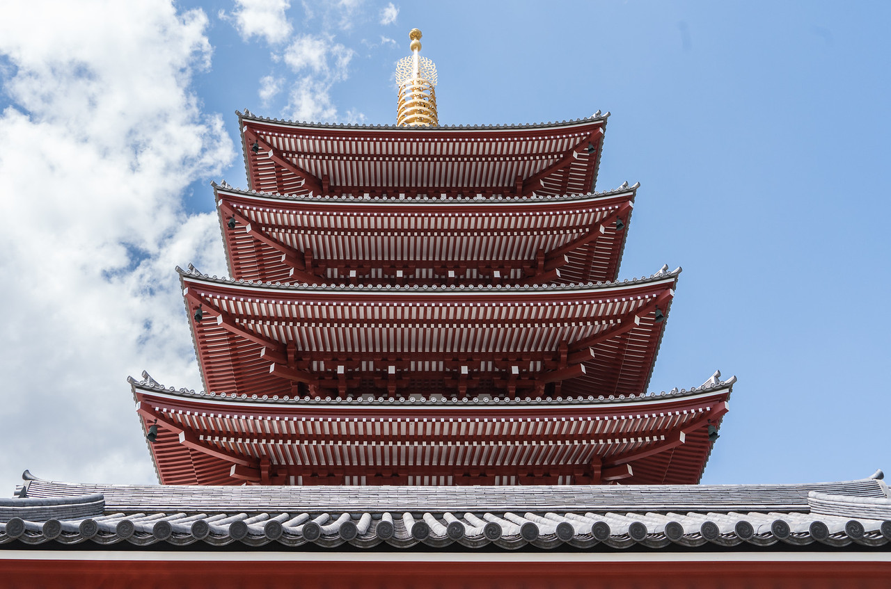 Temple roofs
