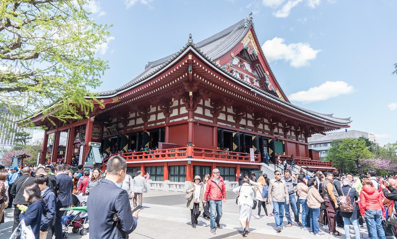 A temple in Senso-ji temple complex