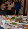 Speaking of eating, we did our share as well.  This photo shows lunch in Chengdu.
