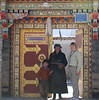 This local mother and child allowed me to have my picture taken with them in their doorway.  Elaborate doorways are a traditional feature of Tibetan homes.