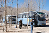 There's now a fleet of modern tour buses in Lhasa.  These are the two buses we used.  Parking lots at the major attractions were packed with buses like these.