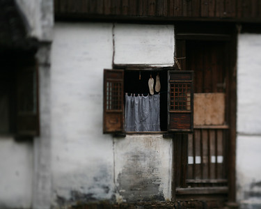 Soles in Window, Zhou Zhuang Watertown, China