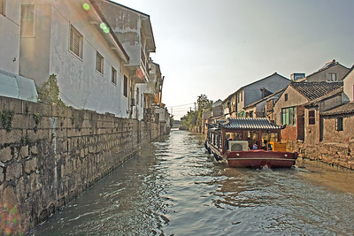 A canal in Suzhou, China, often call the 'Venice of Asia'