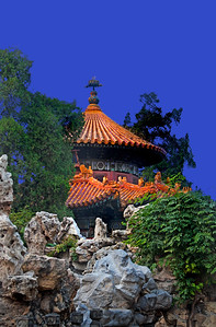the summer palace of a Chinese empress and part of the rock garden.