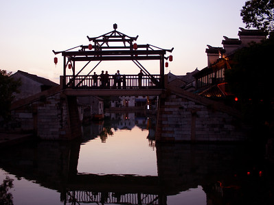 Footbridge in Tongli, China