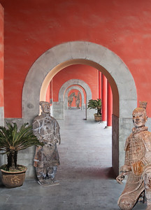 Three chambers with terracotta warriors and plants, China