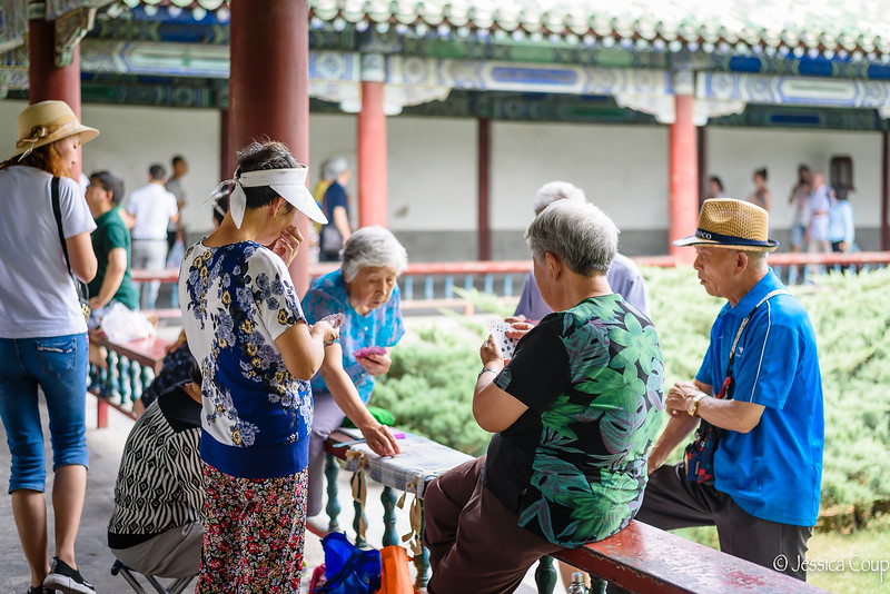 Card Games on the Temple's Grounds