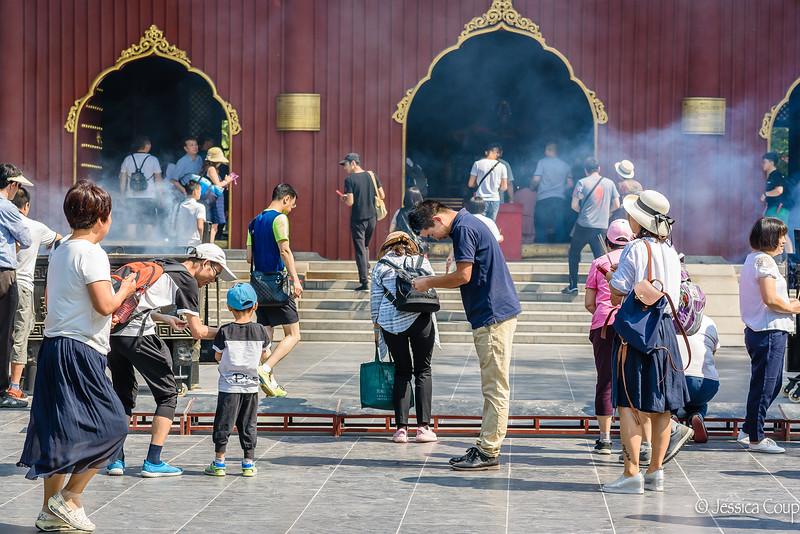 Prayers at the Tibetan Buddhist Monastery