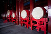 Chinese drums at the Drum Tower in Beijing, China.