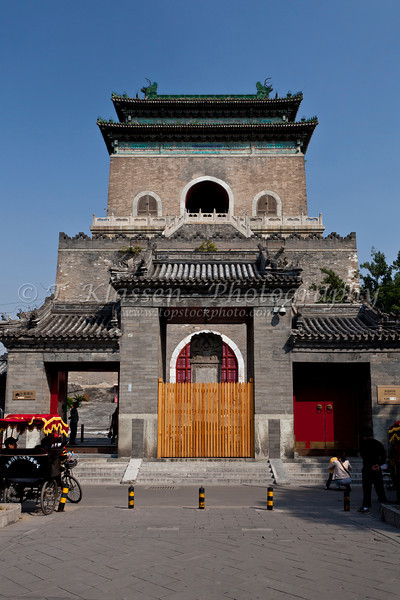 A Drum Tower building in Beijing, China.