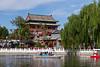 Lake Houhai in the Hutong of Beijing, China.