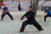 Tai Chi master demonstrates excercise routine at the Temple of Heaven in Beijing, China.