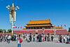 Tiananamen Square with the gate to the Forbidden City in Beijing, China.