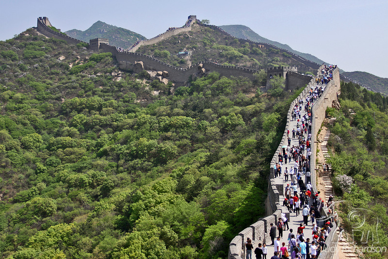 Badaling Wall crowds