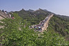 Outer wall of Badaling Great Wall section filled with people